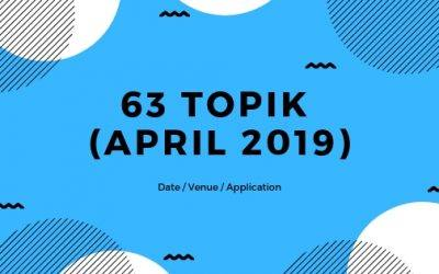 Information for 63rd TOPIK (April 2019)
