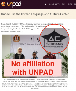 Screen capture of the unauthorised use of ISeodang's logo